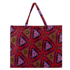 Computer Graphics Graphics Ornament Zipper Large Tote Bag