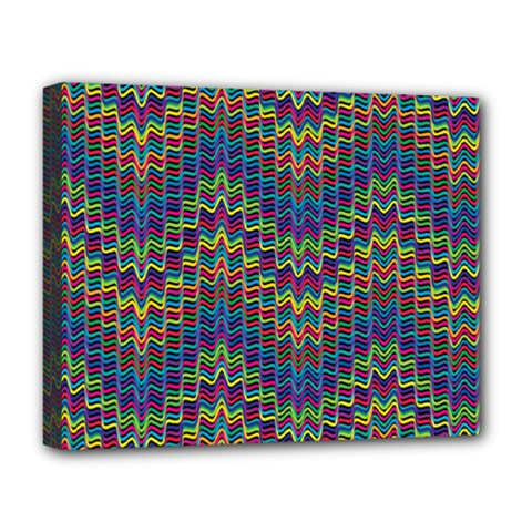 Decorative Ornamental Abstract Deluxe Canvas 20  x 16