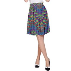 Decorative Ornamental Abstract A-Line Skirt