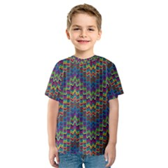 Decorative Ornamental Abstract Kids  Sport Mesh Tee