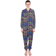 Decorative Ornamental Abstract Hooded Jumpsuit (Ladies)