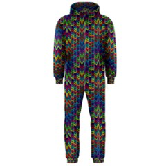 Decorative Ornamental Abstract Hooded Jumpsuit (Men)