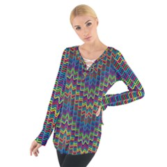 Decorative Ornamental Abstract Women s Tie Up Tee