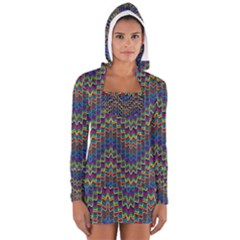 Decorative Ornamental Abstract Women s Long Sleeve Hooded T-shirt