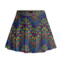 Decorative Ornamental Abstract Mini Flare Skirt