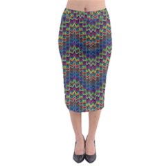 Decorative Ornamental Abstract Midi Pencil Skirt