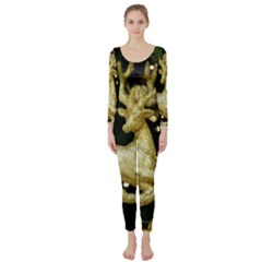 December Christmas Cologne Long Sleeve Catsuit