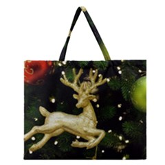 December Christmas Cologne Zipper Large Tote Bag