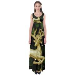 December Christmas Cologne Empire Waist Maxi Dress