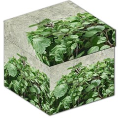Plants Against Concrete Wall Background Storage Stool 12