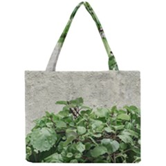 Plants Against Concrete Wall Background Mini Tote Bag