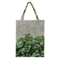Plants Against Concrete Wall Background Classic Tote Bag