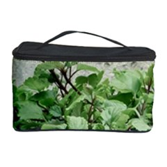 Plants Against Concrete Wall Background Cosmetic Storage Case