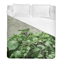 Plants Against Concrete Wall Background Duvet Cover (Full/ Double Size)