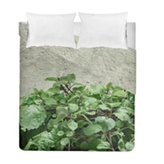 Plants Against Concrete Wall Background Duvet Cover Double Side (Full/ Double Size)