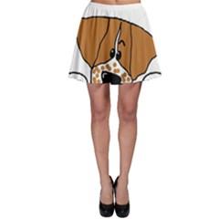 Peeping Brittany Spaniel Skater Skirt