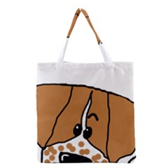 Peeping Brittany Spaniel Grocery Tote Bag