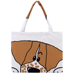Peeping Brittany Spaniel Mini Tote Bag