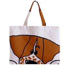 Peeping Brittany Spaniel Zipper Mini Tote Bag