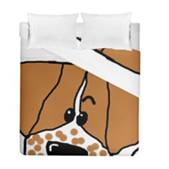 Peeping Brittany Spaniel Duvet Cover Double Side (Full/ Double Size)