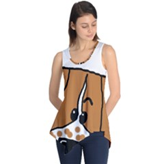 Peeping Brittany Spaniel Sleeveless Tunic