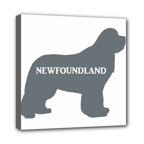 Newfie Name Silo Grey Mini Canvas 8  x 8