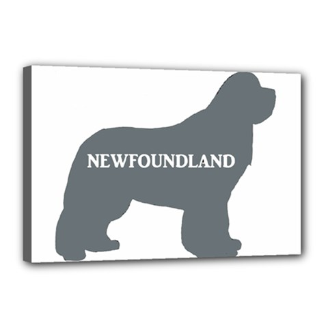 Newfie Name Silo Grey Canvas 18  x 12