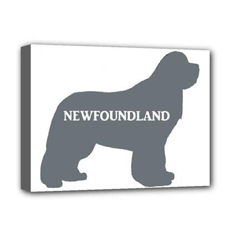Newfie Name Silo Grey Deluxe Canvas 16  x 12
