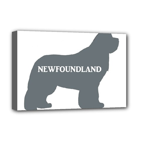 Newfie Name Silo Grey Deluxe Canvas 18  x 12