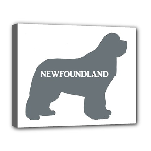 Newfie Name Silo Grey Deluxe Canvas 20  x 16