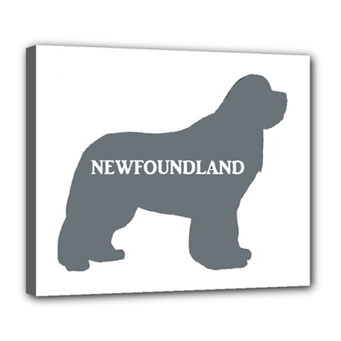 Newfie Name Silo Grey Deluxe Canvas 24  x 20