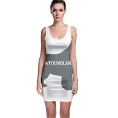 Newfie Name Silo Grey Sleeveless Bodycon Dress