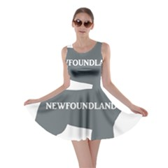 Newfie Name Silo Grey Skater Dress