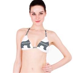 Newfie Name Silo Grey Bikini Top
