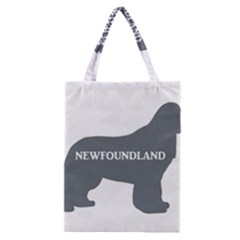 Newfie Name Silo Grey Classic Tote Bag