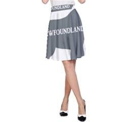 Newfie Name Silo Grey A-Line Skirt