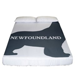 Newfie Name Silo Grey Fitted Sheet (California King Size)