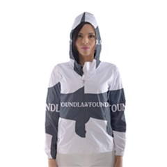 Newfie Name Silo Grey Hooded Wind Breaker (Women)