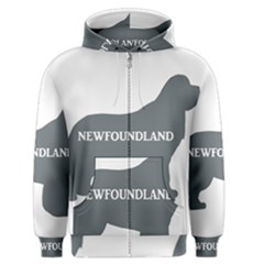 Newfie Name Silo Grey Men s Zipper Hoodie