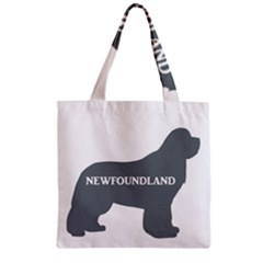 Newfie Name Silo Grey Zipper Grocery Tote Bag