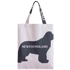 Newfie Name Silo Grey Zipper Classic Tote Bag