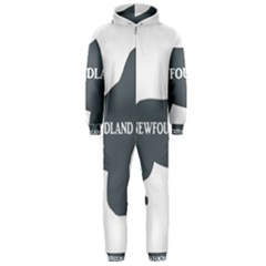 Newfie Name Silo Grey Hooded Jumpsuit (Men)