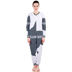 Newfie Name Silo Grey OnePiece Jumpsuit (Ladies)