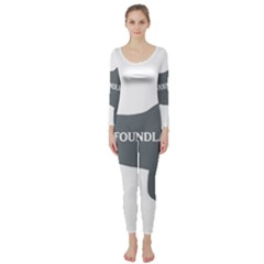 Newfie Name Silo Grey Long Sleeve Catsuit