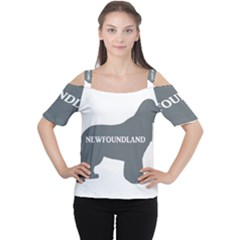 Newfie Name Silo Grey Women s Cutout Shoulder Tee