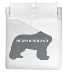 Newfie Name Silo Grey Duvet Cover (Queen Size)