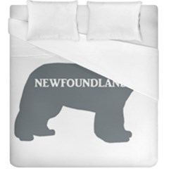 Newfie Name Silo Grey Duvet Cover (King Size)