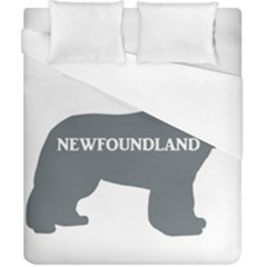 Newfie Name Silo Grey Duvet Cover (California King Size)