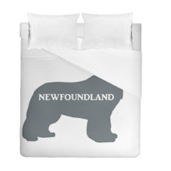 Newfie Name Silo Grey Duvet Cover Double Side (Full/ Double Size)