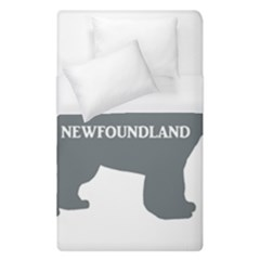 Newfie Name Silo Grey Duvet Cover (Single Size)
